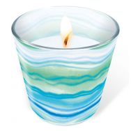 Candle in a glass - Blue waves