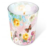 Candle in a glass - Butterfly charm
