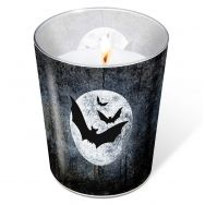 Candle in a glass - Moon and Bats