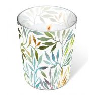Candle in a glass - Willow leaves