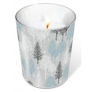 Candle in a glass - Winter trees