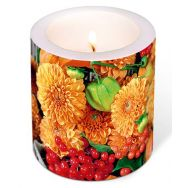 Candle - Flowers and fruits