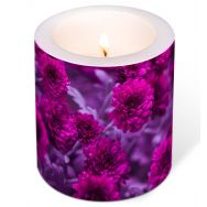 Candle - Fuchsia Flowers