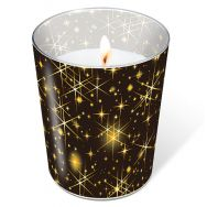 Candle in a glass - Glittering stars