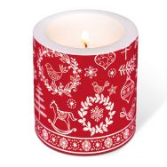 Candle - Hygge symbols red