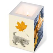 Candle - Autumn cats, large