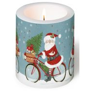 Candle - Santa on bike
