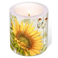 Candle - Vintage sunflower