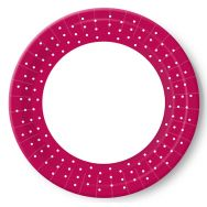 Paper plates - Dots raspberry