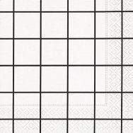 Napkins - Home square white-black