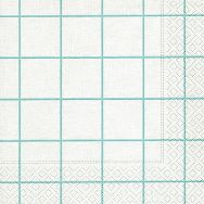 Napkins - Home square aqua-white
