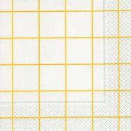 Napkins - Home square white-yellow