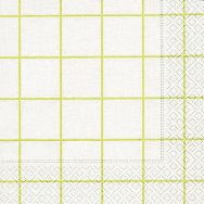 Napkins - Home square white-green