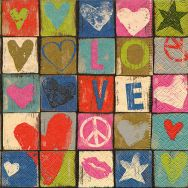 Napkins - Love and peace