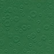 Napkins embossed - Moments Uni forest green