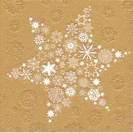Napkins embossed - My Xmas star gold