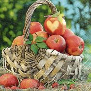 Napkins - Apple basket