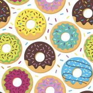 Napkins - Colorful donuts