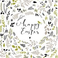 Napkins - Happy Easter green