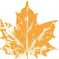 Napkins punched Maple leaf yellow