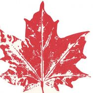 Napkins punched Maple leaf red