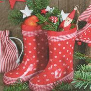 Napkins - Gumboots with gifts