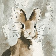 Napkins - Watercolour bunny