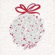 Napkins embossed - Calligraphic bauble
