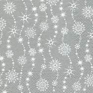 Napkins - Chrystal waves silver