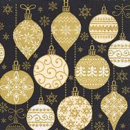 Napkins - Baubles with pattern