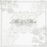 Napkins embossed - Mr. & Mrs. silver
