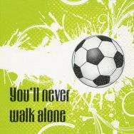 Servietten - Never walk alone