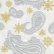 Napkins embossed - Paisley with stars
