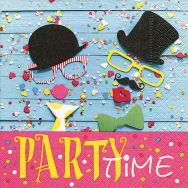 Servietten - Party time