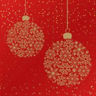 Napkins embossed - Bauble dream