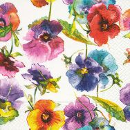 Napkins - Watercolour pansies
