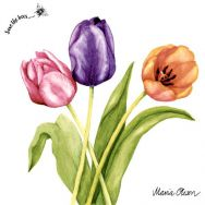 Napkins - Colorful tulips