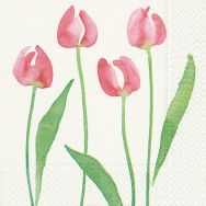 Napkins - Watercolour tulip
