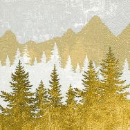 Napkins - Forest silhouette gold