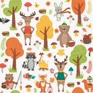 Napkins - Woodland animals