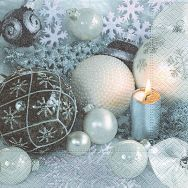 Napkins - Baubles in light