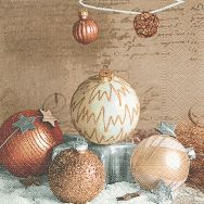 Napkins - Bauble arrangement