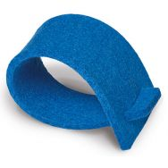 Napkin rings of felt - blue