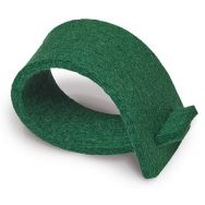 Napkin rings of felt - dark green