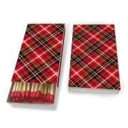 Matches - Tartan red