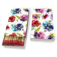 Matches - Watercolour pansies