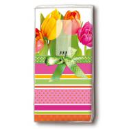 Handkerchiefs - Tulips and stripes