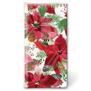 Handkerchiefs - Shiny poinsettia