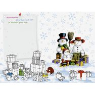 Placemats for painting - Snowman family