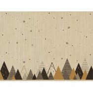 Placemats flax - Graphic trees